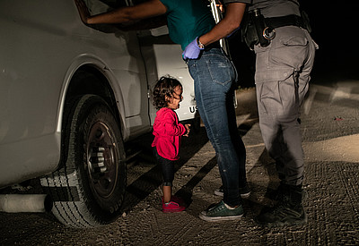 "Pressefoto des Jahres ""Crying Girl on the border"" 