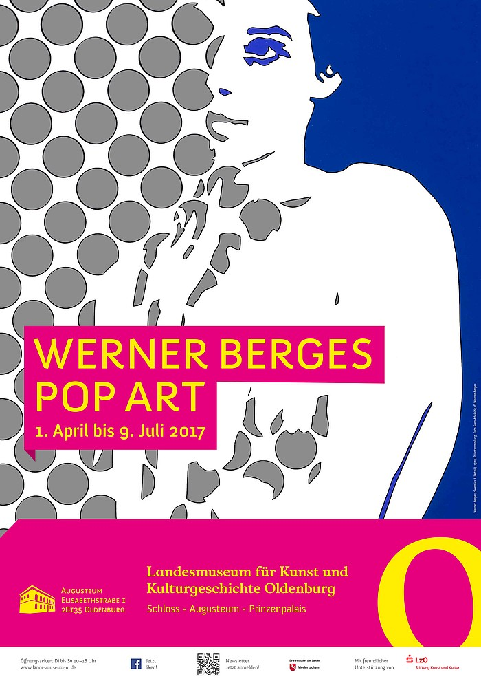 Plakat Werner Berges   Pop Art, Landesmuseum Oldenburg