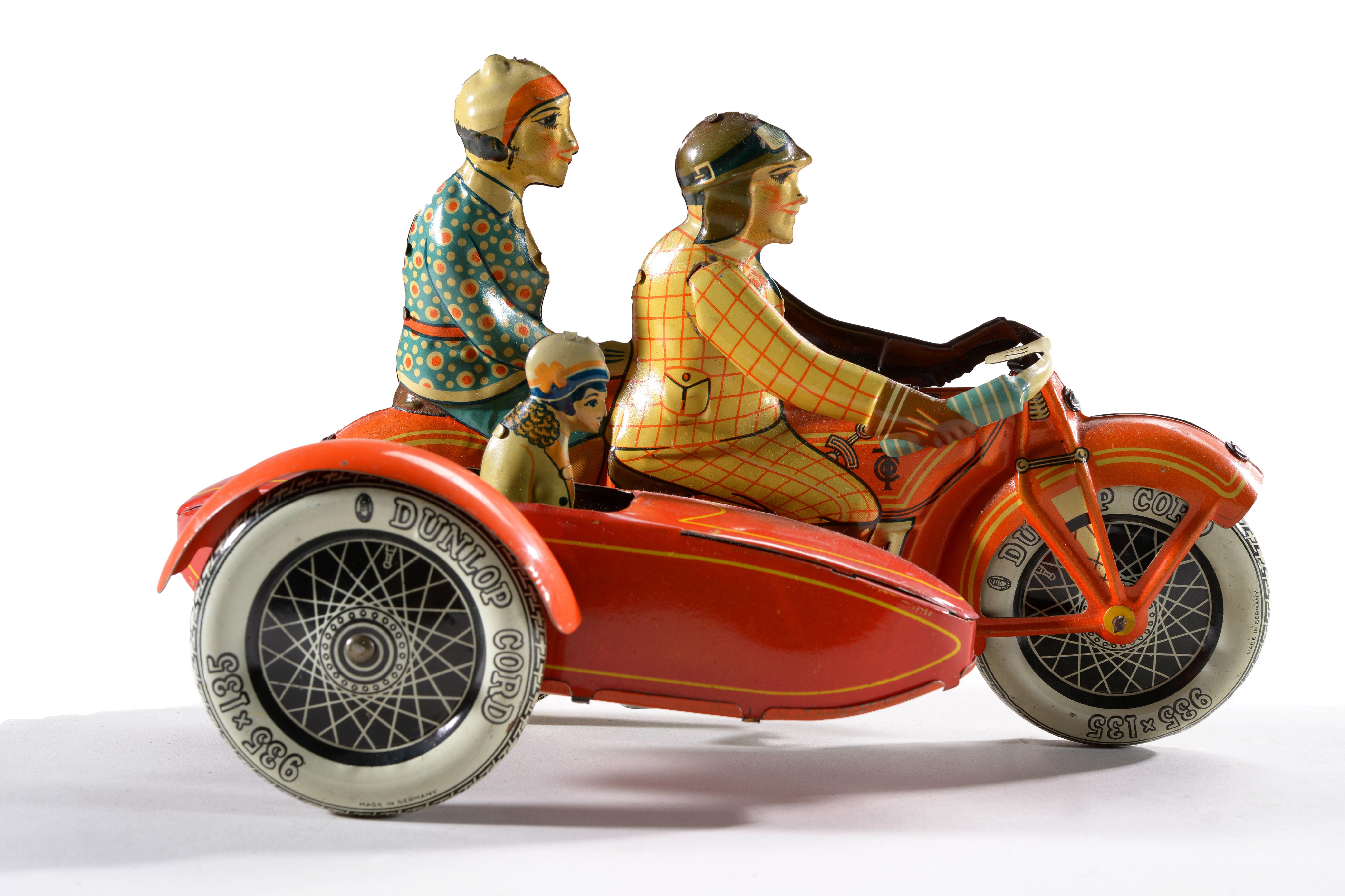 Freundlich Blechspielzeug Motorradfahrer Motorräder Spielzeug